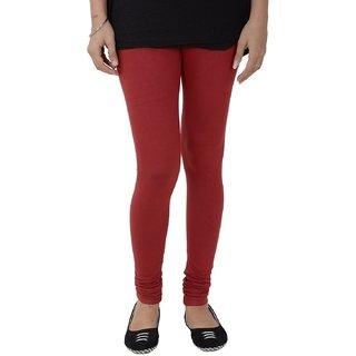 Triveni Elegant Maroon Colored Contemporary Cotton Lycra Leggings