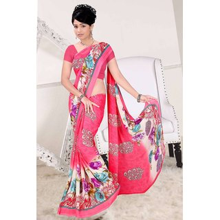 Crown Prints Weightless Saree With Blouse