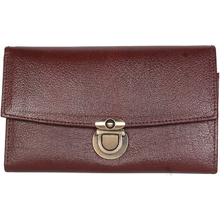 Original New Style Brown Leather Ladies Wallets LW0512BR
