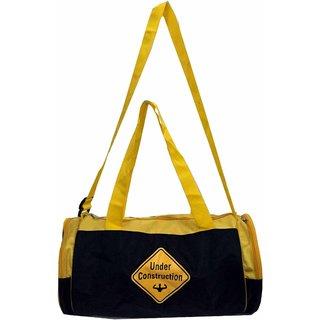 PROTONER GYM BAG MUSCLES UNDER CONSTRUCTION WITH 3 POCKETS & ADJUSTABLE STRAP