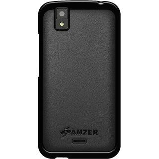 AMZER Back Cover for Karbonn Sparkle V - Black  (Pudding TPU Case)