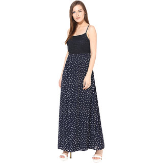 Rose Vanessa blue bird long Maxi