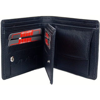 Pu Leather Gents Wallet New Men's Wallet Gents Money Purse Black MW127BLPU