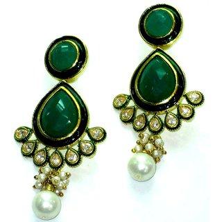 Starlet Jewels imitation jewelry poignant pearl dangling gemstone earring
