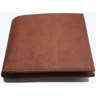 Genuine Camel Leather Pure Tan Leather Wallet MW302TN