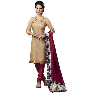 Sareemall Blue Cotton Lace Salwar Suit Dress Material (Unstitched)