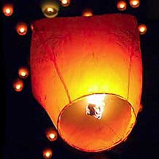 Skycandle.in Sky Lanterns - Pack Of 15- Assorted Color