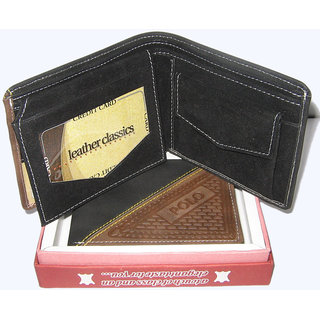 Best Quality Of Black Pu Leather Gents Wallet MW109BLPU