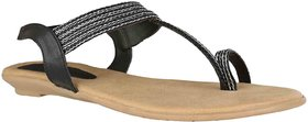 Exotique Stylish Black Sandal