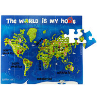 Jigsaw Puzzle-World Continents (30 Pc & Colouring)