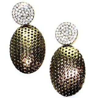 Starlet Jewels imitation jewelry fully gold color artificial diamond earring