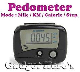 Gadget Hero's Digital II LCD Pedometer Step Calories Counter