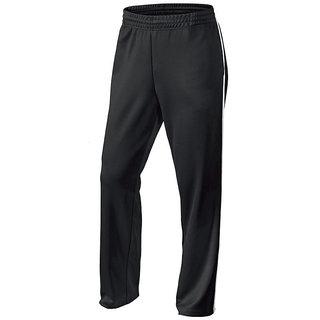 NAVEX Mans Black Polyster Trackpants-1-S