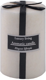 Vanilla Scented Candle White - 3 X 4 By The Yellow Door