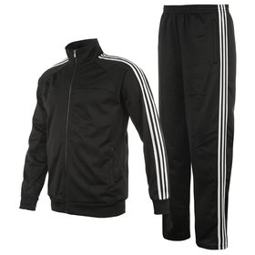 NAVEX Man's Black Polyster Training Tracksuits-S