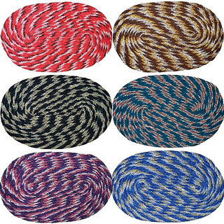 Pack of 6 Weaved Door Mats