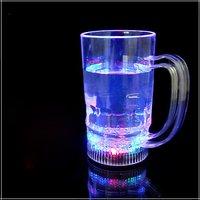 Ideals  BEER & COLA MUG WITH LED LIGHT FLASHING,LED LIGHT-UP DRINKWARE BEER MUG/6LED