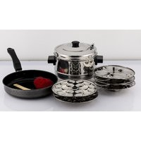 Mahavir 12Pc Induction Base Idly Cooker With 36Mini Idly Plate Free And Induction Base Dosa Tawa-260Mm