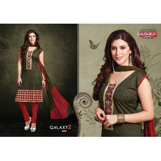 Galaxy Smart Cotton Embroidered Suit.