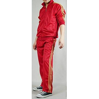 NAVEX Man's Red Polyster Training Tracksuits-1-S