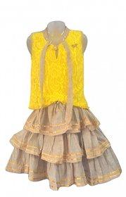 LCT JungleGirl Yellow Mesh Top and Fine Jute Skirt 5-6 yrs