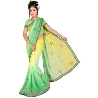 Fancy Designer Cording Yellow and Green-19