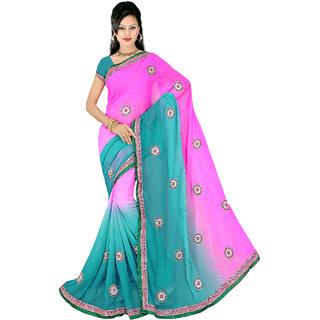 Fancy Designer Cording Blue and Pink -19