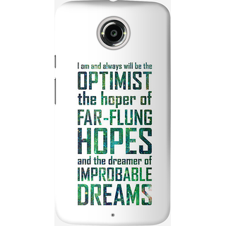 The Fappy Store Dreamer-of-Improbable Back Cover for Moto X 2nd Gen