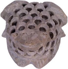 Avinash Handicrafts Soap Stone Undercut Frog 4''