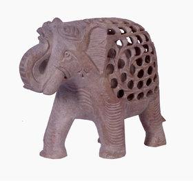 Avinash Handicrafts Soap Stone Undercut Elephant 6