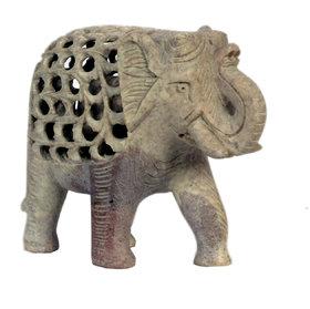 Avinash Handicrafts Soap Stone Undercut Elephant 5