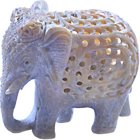Avinash Handicrafts Soap Stone Threecut Elephant 2