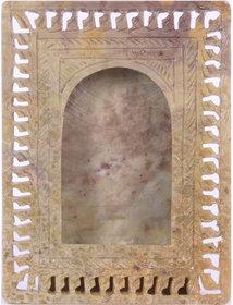 Avinash Handicrafts Soap Stone Multicolor Carved Photo Frame 6x4