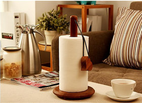 Onlineshoppee Wood Tissue Holder/Table Decoration Tissue Pumping Napkin Holder