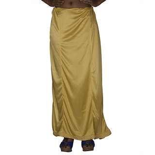 Gold Stretchable 6 Piece Lycra Petticoat with Lace Border