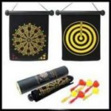 New Roll Up Magnetic Dart Board Game