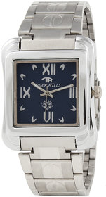 TIGERHILLS RECTANGLE STYLISH STEEL WATCH FOR MEN M.N.13001 (BLUE)