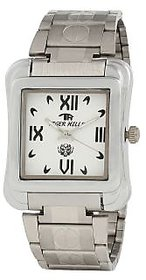 TIGERHILLS RECTANGLE STYLISH STEEL WATCH FOR MEN M.N.13001 (WHITE)