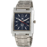 Tigerhills Rectangle Dial Silver Metal Strap Quartz Watch For Men