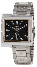 Tigerhills Rectangle Dial Silver Metal Strap Quartz Watch For Men