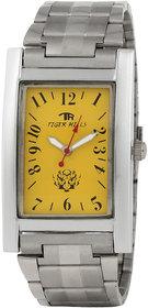 Tigerhills Rectangle Dial Silver Metal Strap Quartz Watch For Men Model No T1110178