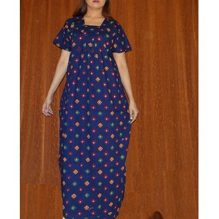 Gurlz Cotton Nighty 1pc Printed Night Gown Blue Slip Lounge Bed Nightie  Gift Prices in India- Shopclues- Online Shopping Store 0f2b2a3c8
