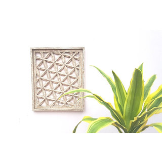 Onlineshoppee Wooden Wall Decor Square Shaped Panel Size (LxBxH-15x1x18) Inch
