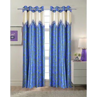 Trendy Home Polyester Scallop Door Curtain