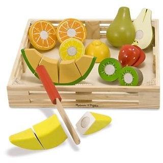 Onlineshoppee Wooden Cutting Fruit Toy Size (LxBxH-11x3x12) Inch