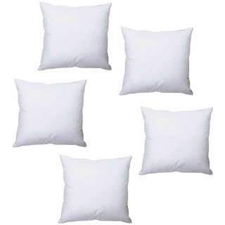 white polyester cushion inserts 12 x 12 inches combo of 5