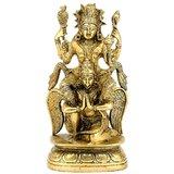 "Redbag Lord Vishnu Riding On Garuda Statue 8"" Brass Crafted Sculpture 3165 ~ Nar"