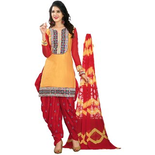 Shopping Queen Classic Semi-Stitched Patiyala Suit