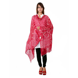 Rajsthani Bandhani Dupatta with mirror work