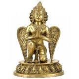 "Redbag Lord Vishnu Narayan Carrier Garuda Statue 10"" Brass Crafted Sculpture 341"